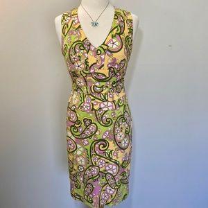 Kay Unger New York V-neck Sheath Dress Women's 4